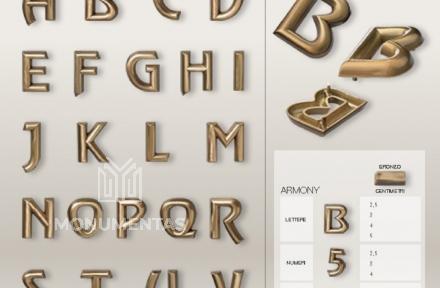 Bronzinės raidės Armony