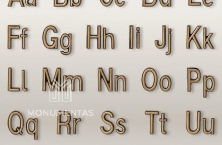 Bronzinės raidės Duplo