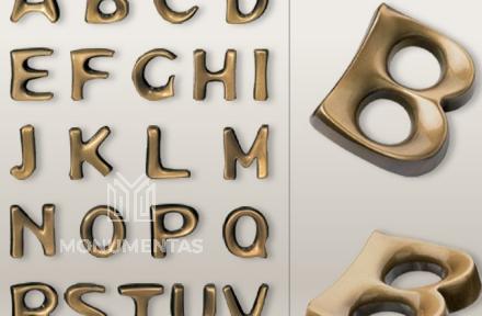 Bronzinės raidės Mundial