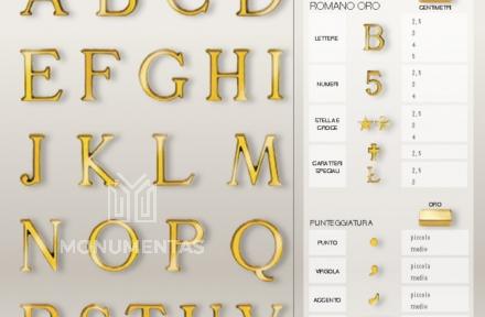Bronzinės raidės Romano Oro