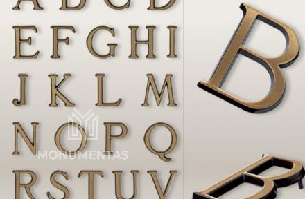 Bronzinės raidės Romano