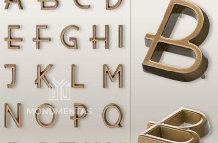 Bronzinės raidės Vilvo