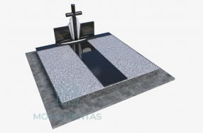 Dengimas granito plokščių komplektu su paminklu