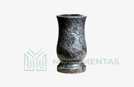 Melsvo granito vaza V17