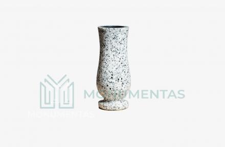 Pilko granito vaza V9