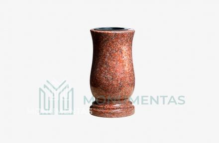 Raudono granito vaza V28