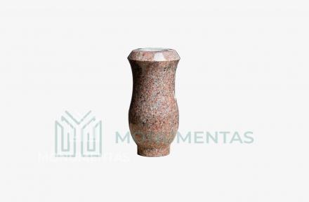 Rausvo granito vaza V13